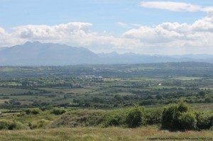 """Image of the McGillicuddy Reeks from """"An Riocht"""" Range"""